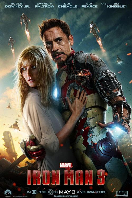 Iron Man 3 3D One Sheet - P 2013