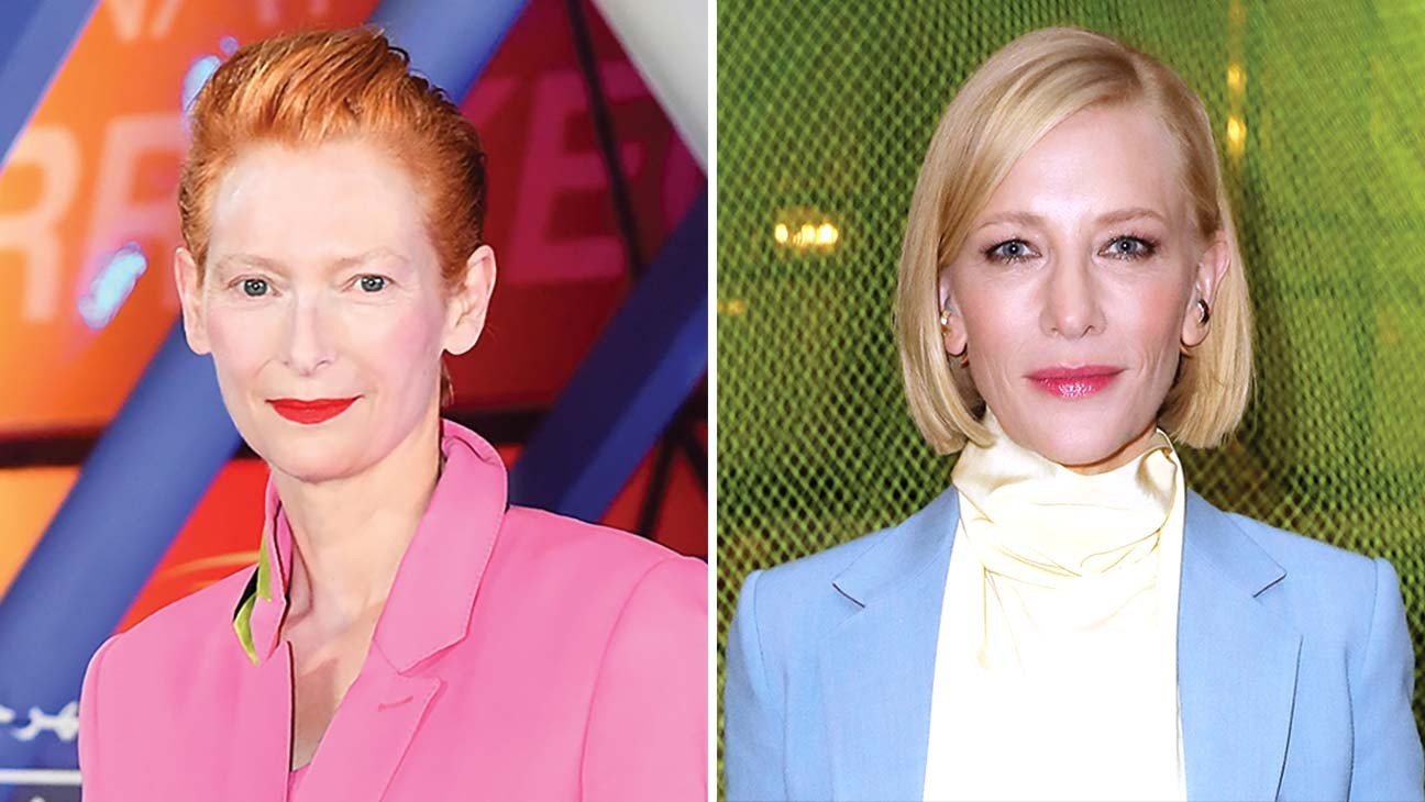 Tilda Swinton (links), Preisträgerin des Lebens in Venedig, und Cate Blanchett, Leiterin der Wettbewerbsjury.