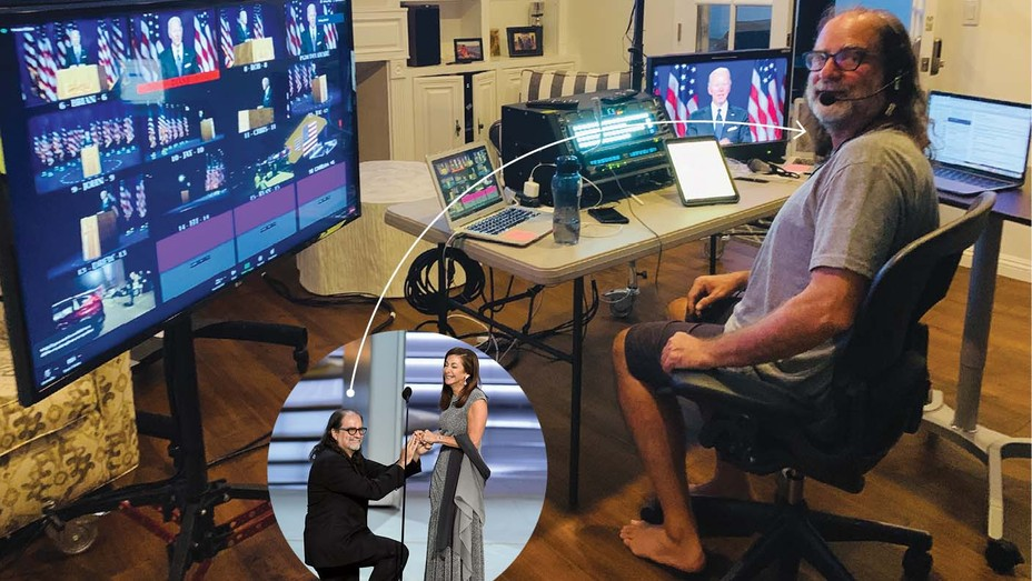 """DNC event director Glenn Weiss """"got to direct the convention barefoot … working from home."""""""