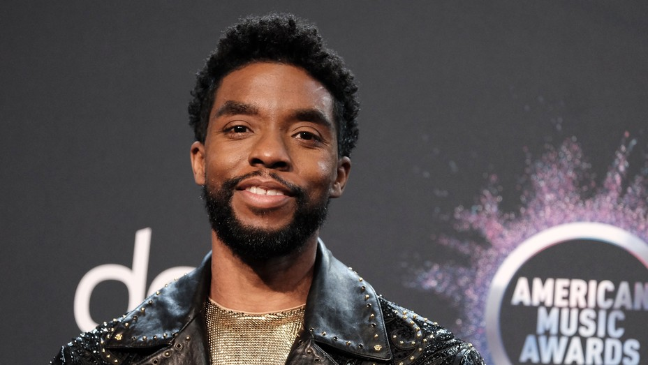Chadwick Boseman at 2019 American Music Awards Press Room - H - 2020