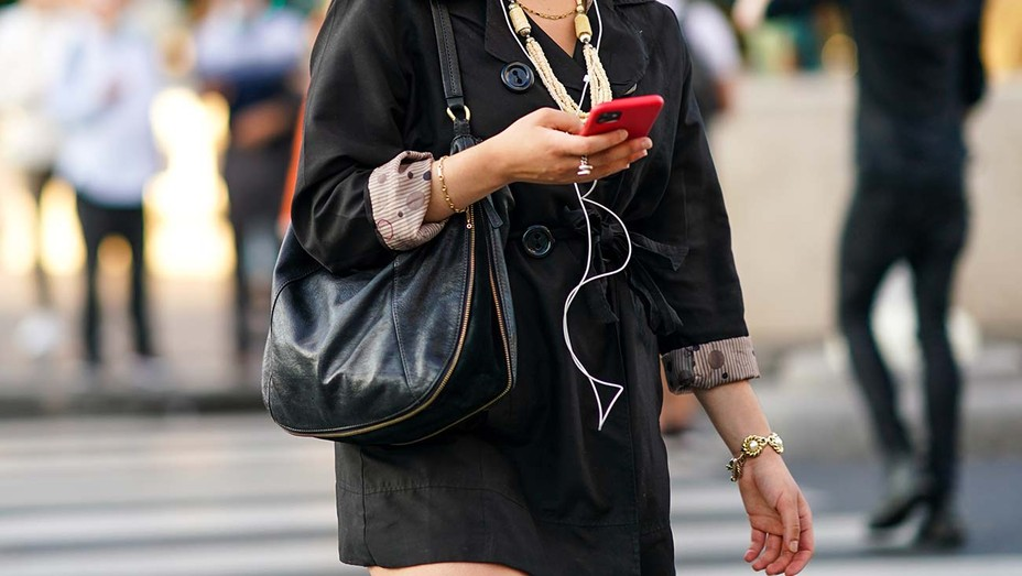 Text messaging - Street Style In Paris - July 2020-Getty-H 2020