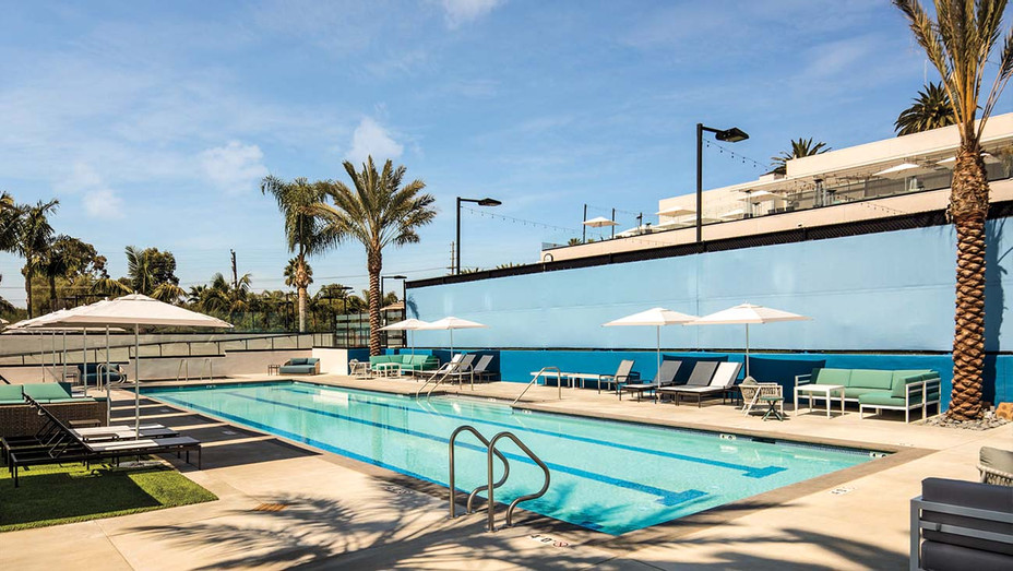 The new junior Olympic-size pool at the Griffin Club in Cheviot Hills.