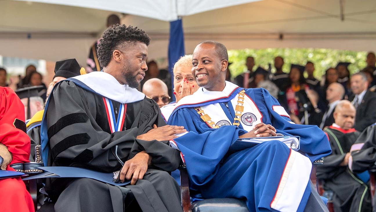 "Howard University President Reflects on Chadwick Boseman's Commencement Speech: ""It Shows His Grace"""