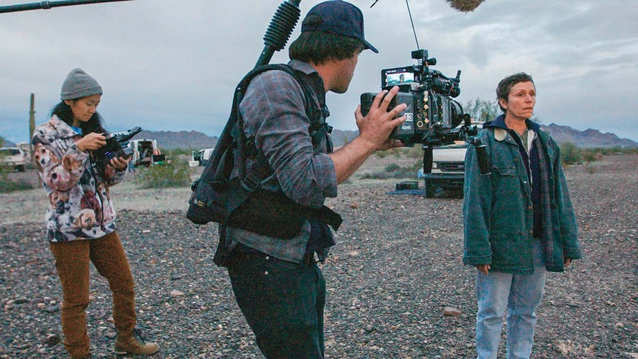 Zhao films McDormand in Nomadland, about the itinerant working class.