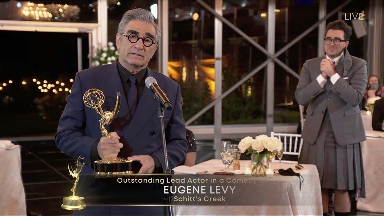 "Emmy Winner Eugene Levy Says it Was ""Such a Joy"" to Work on 'Schitt's Creek' With His Children"