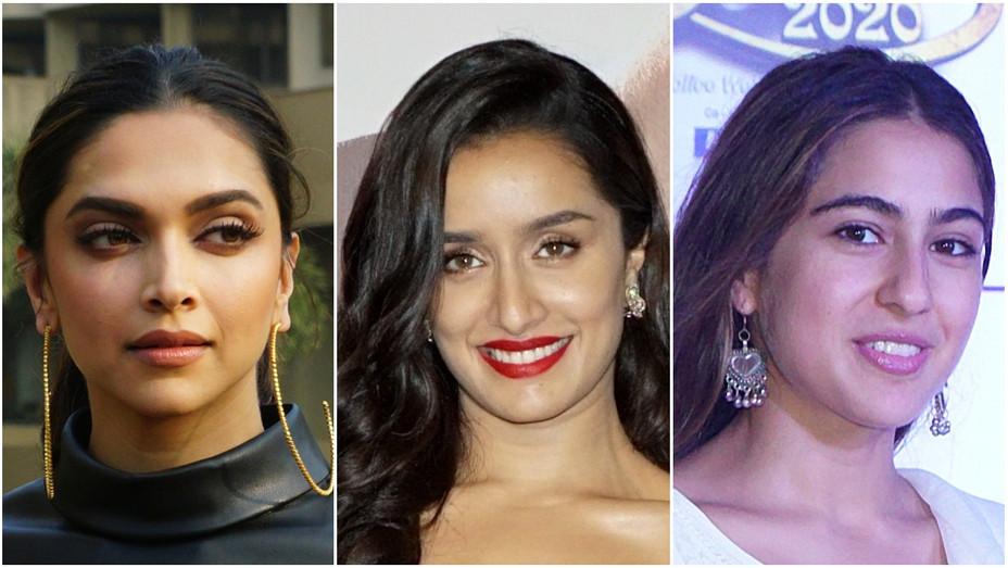 Deepika Padukone, Shraddha Kapoor and Sara Ali Khan.