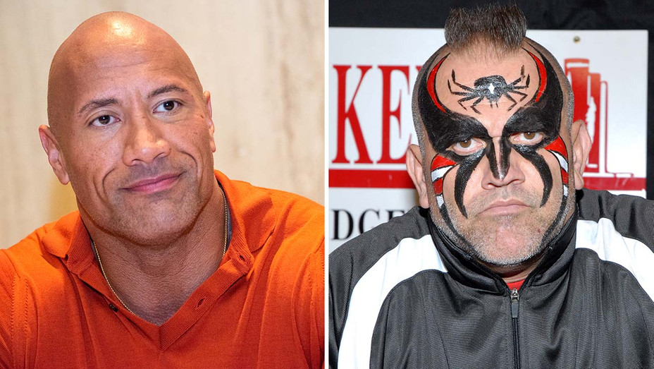 Dwayne-Johnson -and-the-wrestler-Road-Warrior-Animal