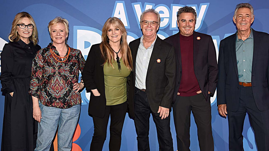 Maureen McCormick, Eve Plumb, Susan Olsen, Mike Lookinland, Christopher Knight and Barry Williams