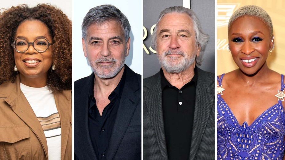 Oprah Winfrey, George Clooney, Robert DeNiro and Cynthia Erivo