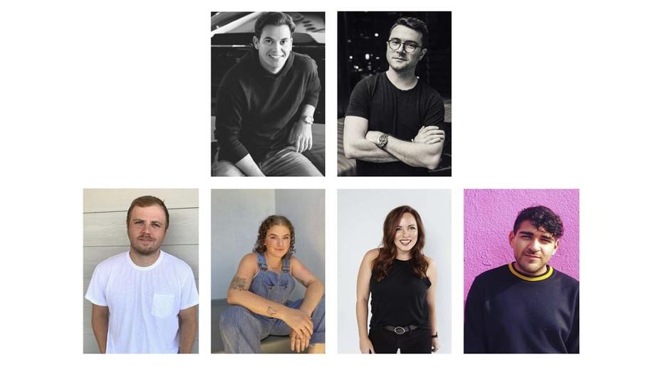 Top Row: Matt Graham, Jack Minihan. Bottom Row: Jordan Dettmer, Stephanie Marks, Alicia Mathews, Isaac Zepeda.