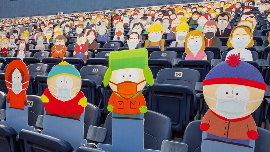 'South Park' cutouts fill Empower Field at Mile High.