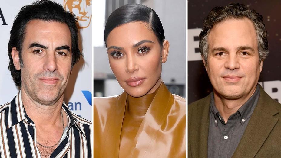 Sacha Baron Cohen, Kim Kardashian and Mark Ruffalo