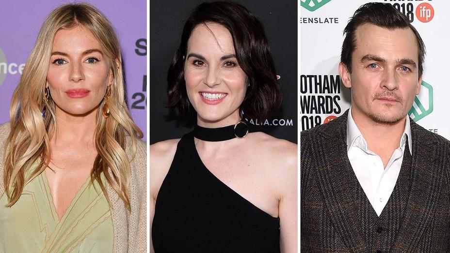 Sienna Miller, Michelle Dockery and Rupert Friend
