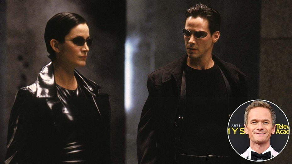 Image from 'The Matrix' with inset of Neil Patrick Harris