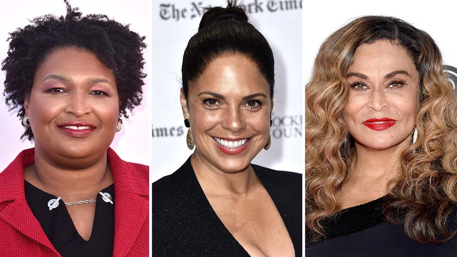 stacey abrams, soledad o'brien and tina knowles lawson