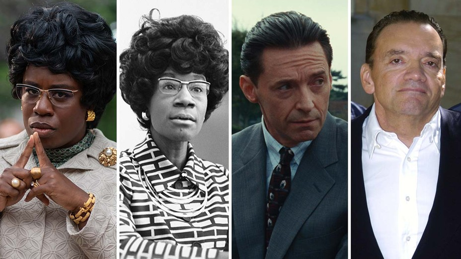 Uzo-Aduba-as-Shirley-Chisolm-in-Mrs.-America-Real-Shirley-Chisolm-and-Hugh-Jackman-as-Frank-Tassone-in-Bad-Education-Real-Frank-Tassone