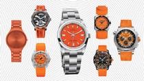 Seven Men's Sports Watches in Brilliant Orange