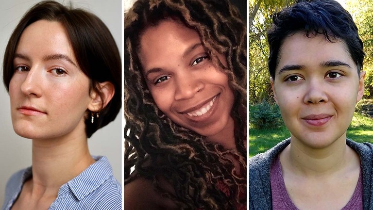 <p>From left: Columbia Crandell, Tunisha Singleton and Jessica Morse, all former staffers at Vin Di Bona Prods., have filed suit against the company over sexual harassment and racial discrimination claims. </p>