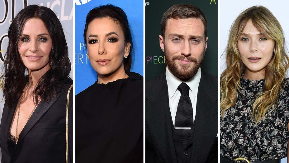 Courteney Cox, Eva Longoria, Aaron Taylor Johnson, and Elizabeth Olsen