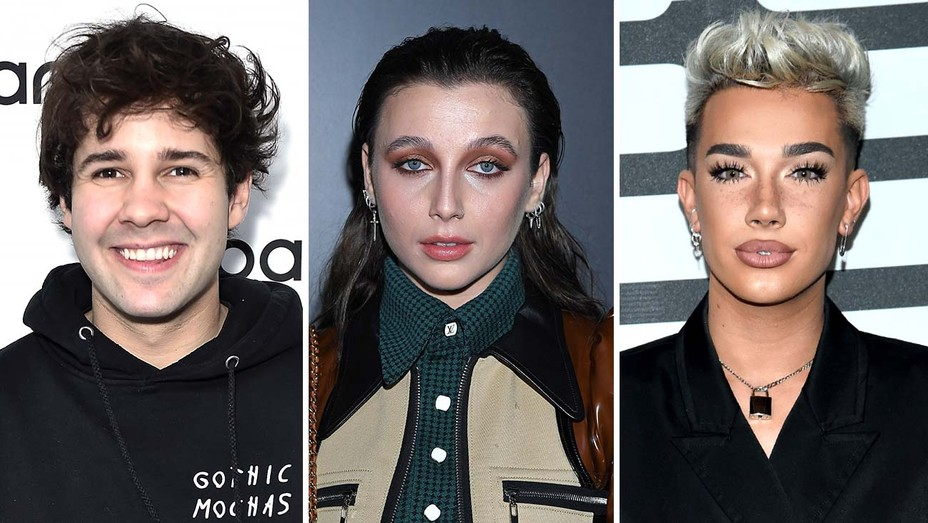 David Dobrik, Emma Chamberlain and James Charles