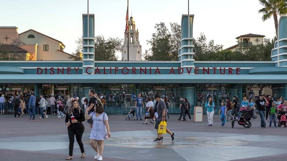 Visitors attend Disney California Adventure