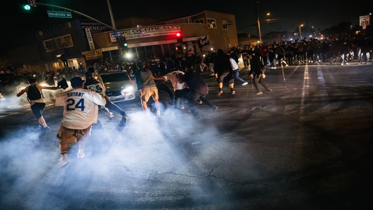 LAPD Makes Several Arrests After Dodgers Celebrations Turn Into Property Damage, Looting