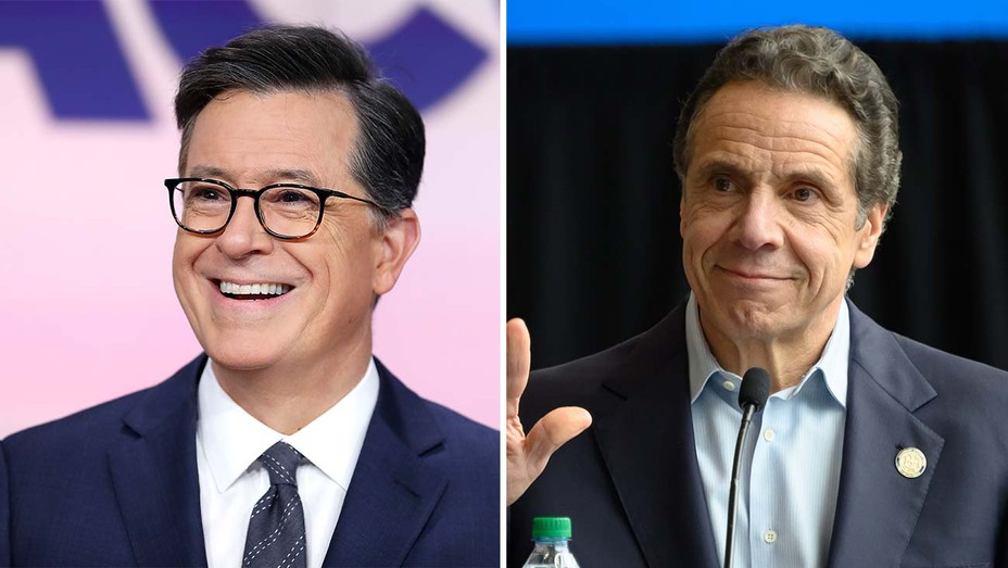 Stephen Colbert and Gov. Andrew Cuomo