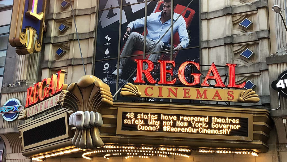 The Regal E-Walk in New York Times Square. Oct. 9, 2020
