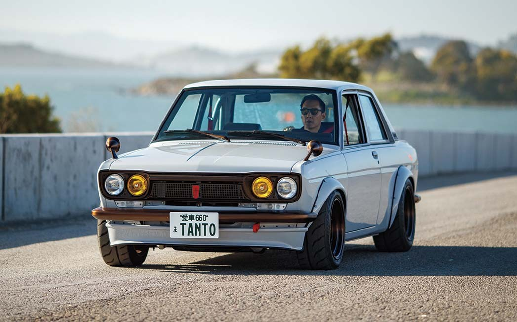 Schauspieler Daniel Wu fährt seinen wunderschön restaurierten Datsun 510 von 1972.