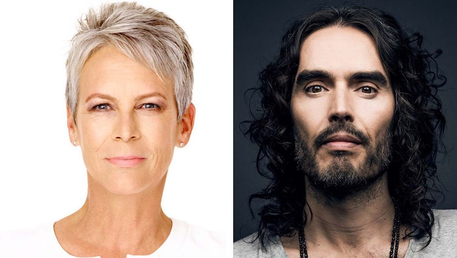 Jamie Lee Curtis and Russell Brand