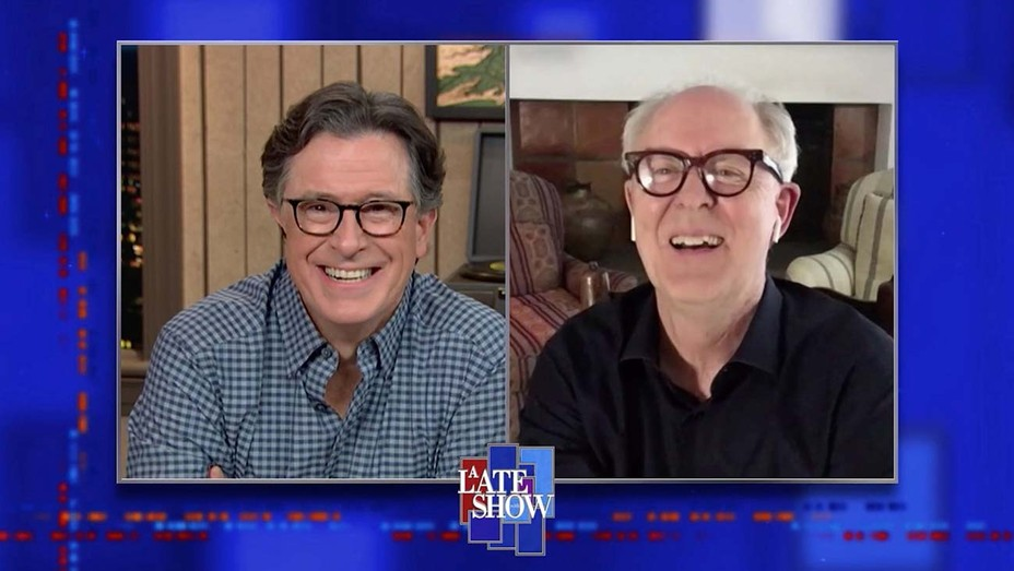 Stephen Colbert and John Lithgow