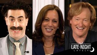 Late Night Lately: Kamala Harris, Sacha Baron Cohen and a Last Push Before Election Day