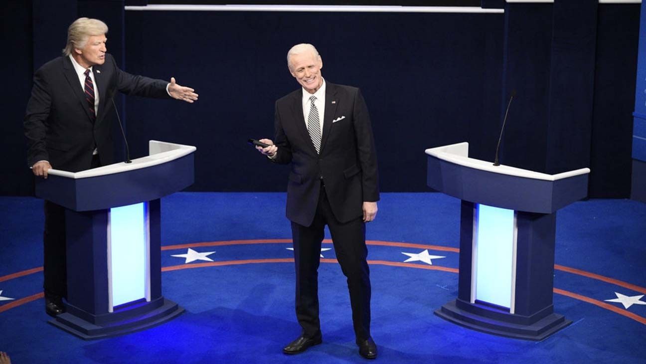 'SNL': Jim Carrey and Alec Baldwin Go Head to Head in Debate-Themed Cold Open