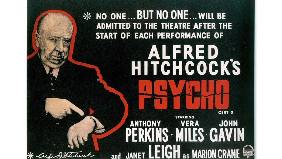Poster Art featuring director Alfred Hitchcock Psycho 1960