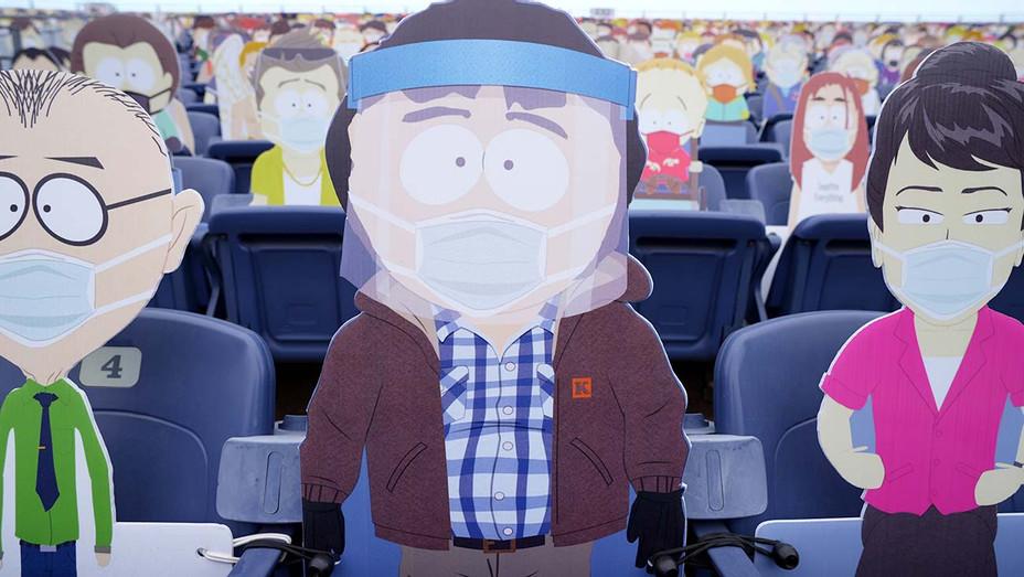 South Park cutouts at stadium