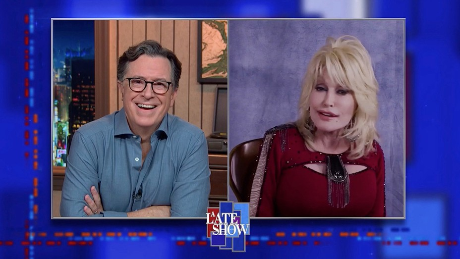 Stephen Colbert and Dolly Parton on 'The Late Show'