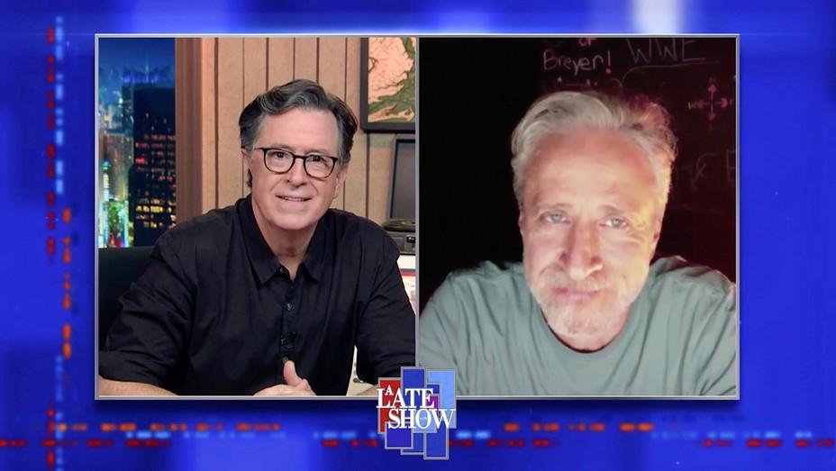 Stephen Colbert and Jon Stewart