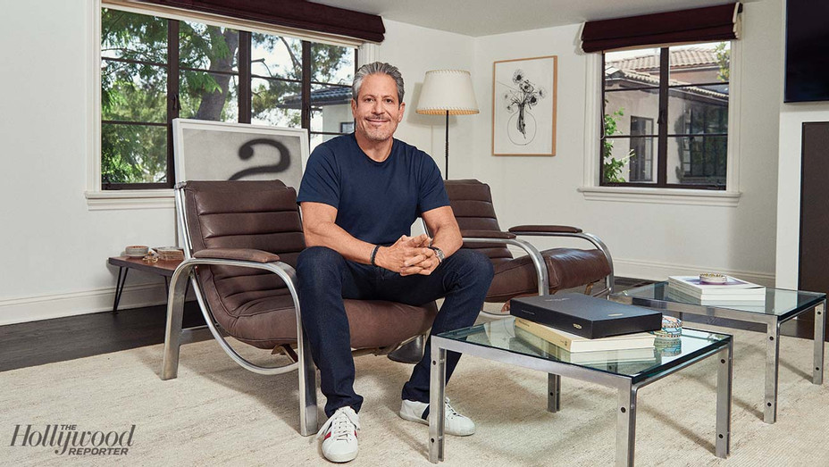 Darren Star was photographed Sept. 25 in his Bel Air home office, formerly his guest house.