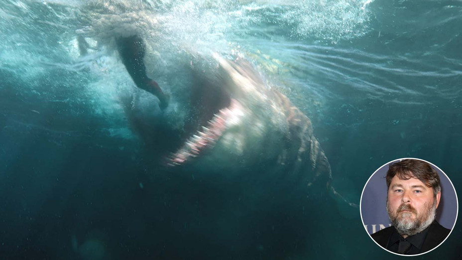 The Meg with an inset of filmmaker Ben Wheatley