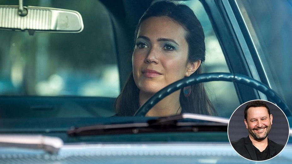 This is Us - Mandy Moore and inset of Dan Fogelman