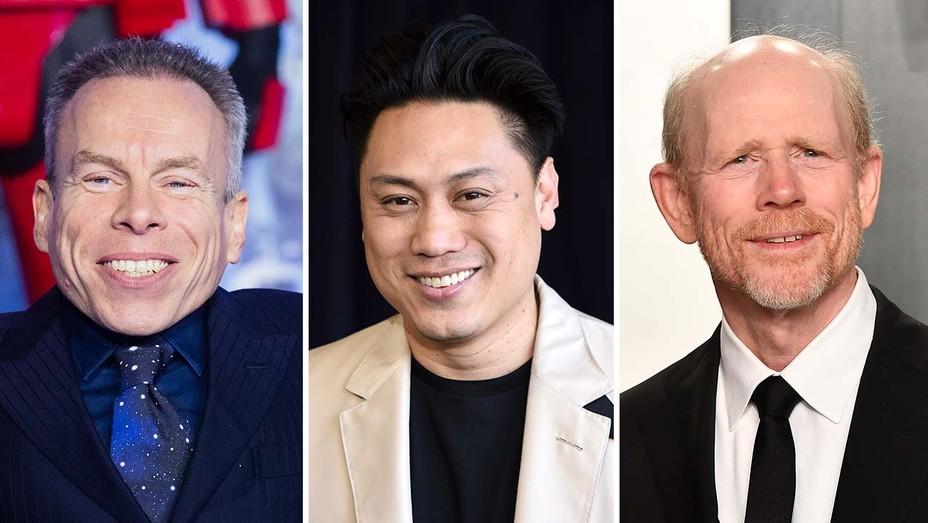 Warwick Davis, Jon M. Chu and Ron Howard