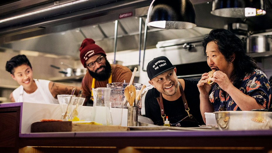 (From left) Kristen Kish, Justin Sutherland, Jeremy Ford, and Bobby Lee.