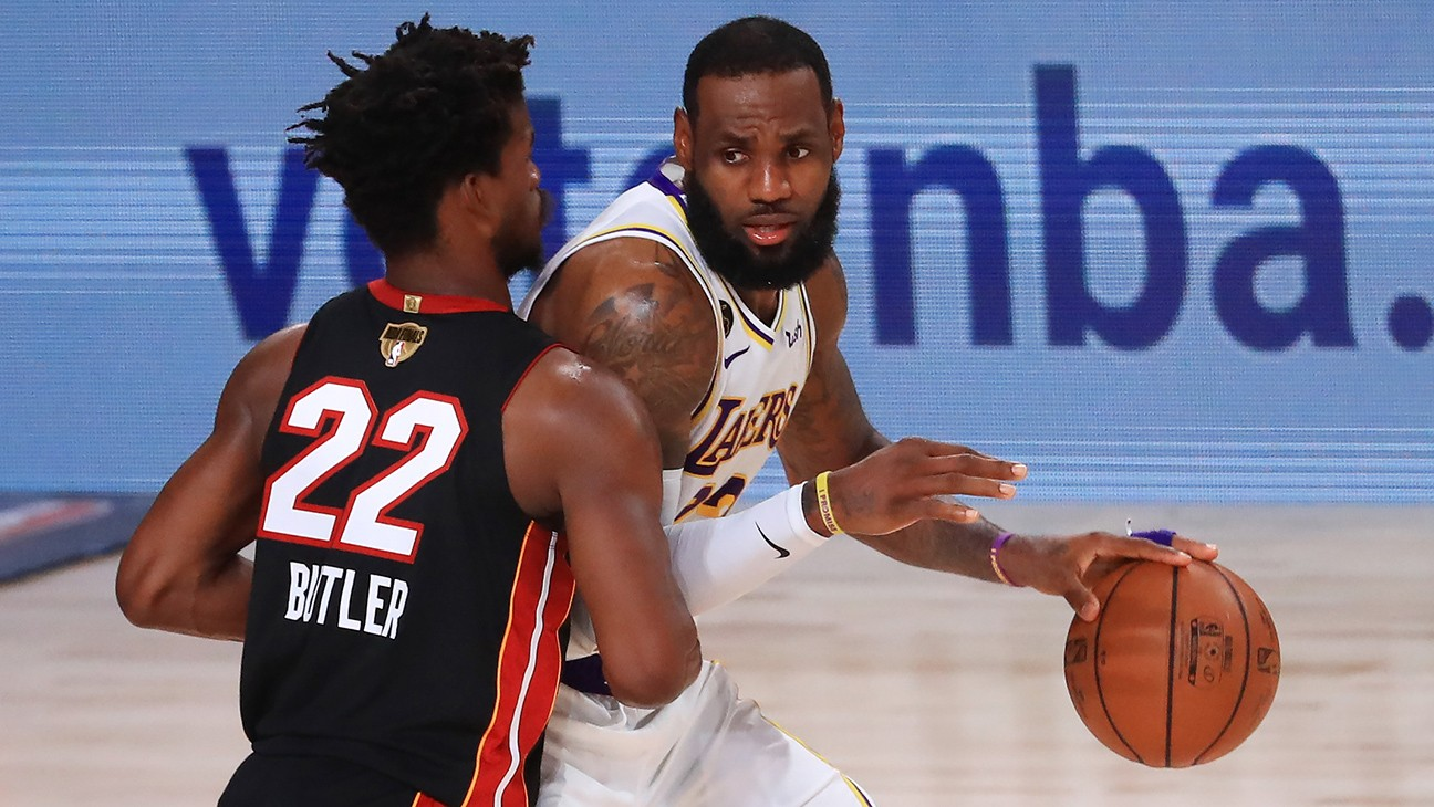 LeBron James Leads L.A. Lakers in Win Over Miami Heat for NBA Championship