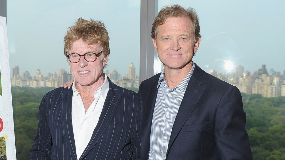 Robert Redford and Jamie Redford