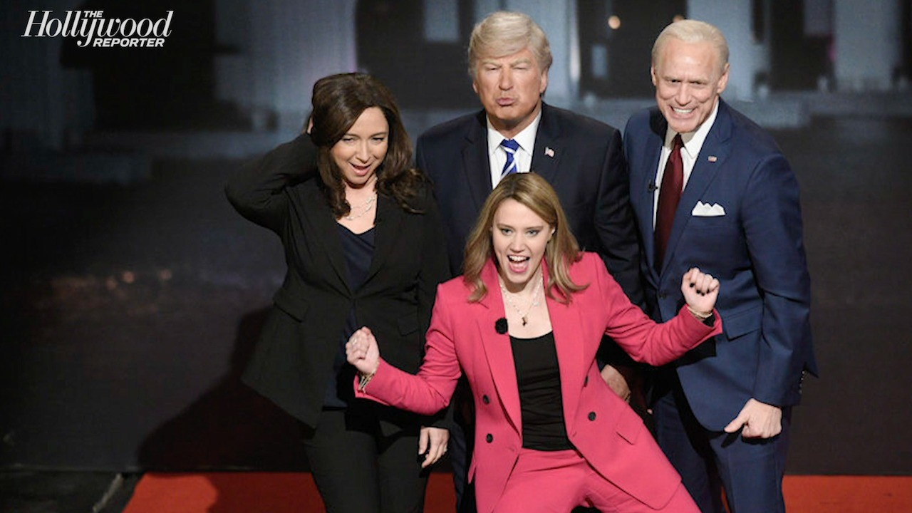 'SNL' Recap: Issa Rae Hosts, Trump and Biden Town Halls Spoofed, Kanye West and NBC Get Shaded | THR News