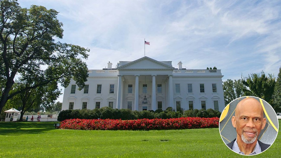 The White House Exterior with inset of Kareem-Getty