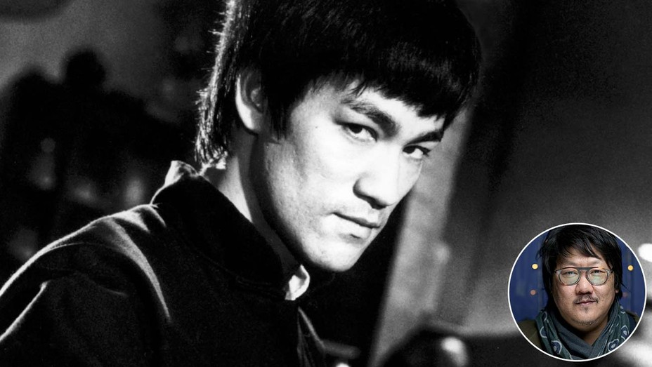 The Chinese Connection (1972) Bruce Lee and inset of Benedict-Wong