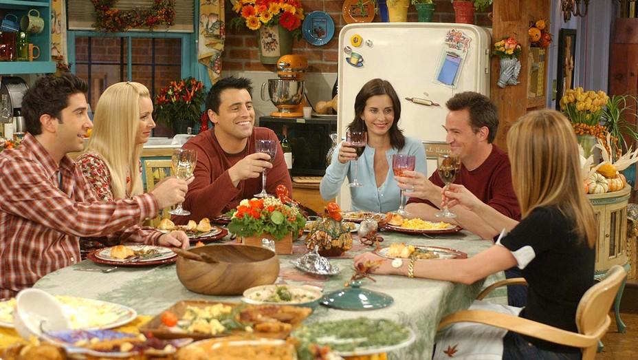 David Schwimmer (as Ross Geller), Lisa Kudrow (as Phoebe Buffay), Matt LeBlanc (as Joey Tribbiani), Courteney Cox Arquette (as Monica Geller Bing), Matthew Perry on 'Friends'