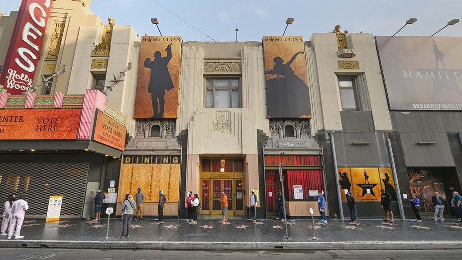 Pantages Theatre vote center on the Hollywood Walk - Nov. 3,2020