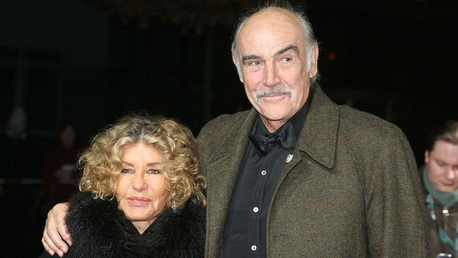 """Sean Connery and wife Micheline Roquebrune attend the """"European Film Awards 2005"""